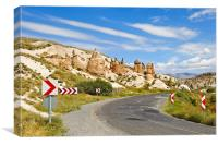 Sandstone Castle in rural Cappadocia, Canvas Print