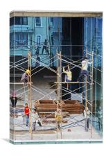 Reflections of a Scaffold, Canvas Print