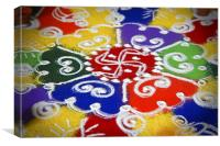 Indoor hindu rangoli pattern, Canvas Print