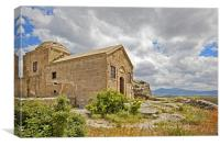 Isolated church in wilderness of Cappadocia, Canvas Print