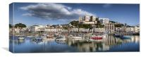 Torquay Harbor Panoramic, Canvas Print