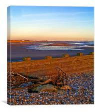 Camber Sands from Rye Harbour, Canvas Print