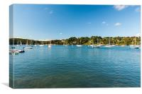Yachts On Helford River, Canvas Print