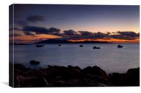 Isle of Rum at dusk, Canvas Print