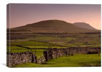 Distant Ingleborough Hill, Canvas Print