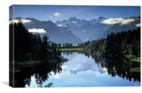 Lake Matheson Mountain Reflection, Canvas Print