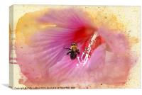 Bumble Bee Bliss, Canvas Print