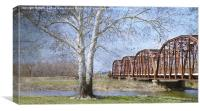 Route 66 Truss Bridge, Canvas Print