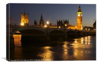 Big Ben & The Houses of Parliament at night, Canvas Print