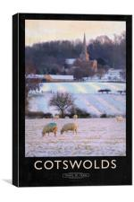 Cotswolds Railway Poster, Canvas Print