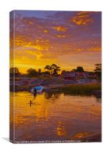 Summer sunset by the sea, Canvas Print