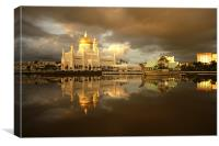 Royal Mosque in Brunei, Canvas Print