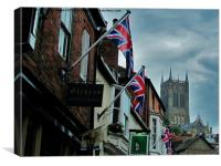 Lincoln Cathedral in Colour, Canvas Print