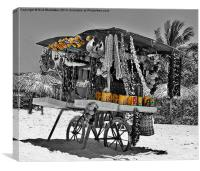 A Cuban Living, Canvas Print
