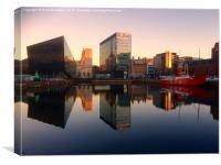 Canning Dock Liverpool, Canvas Print