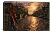 The Westerkerk in Amsterdam, Canvas Print