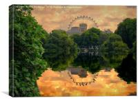 St James Park London, Canvas Print