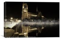 Notre Dame Cathedral Reflections., Canvas Print