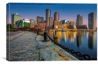 Boston Skyline Dawn, Canvas Print