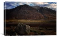 Mountains at Loch Etive , Canvas Print