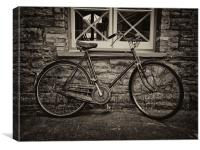 The Old Vintage Bicycle, Canvas Print