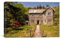 Burrator Lodge at Dartmoor National Park, Canvas Print