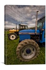Leyland and Marshall Tractors, Canvas Print