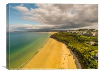 Aerial view of St Ives, Carbis Bay, Cornwall No5, Canvas Print