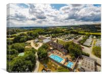Aerial view of Callow Top Holiday park, Derbyshire, Canvas Print