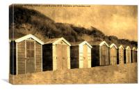 A vintage look for beach huts!, Canvas Print