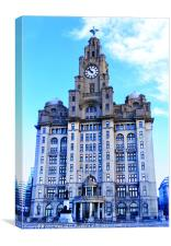 Iconic Royal Liver Building, Canvas Print