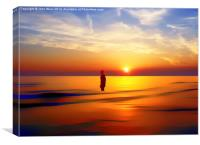 Iron Man at Sunset, Canvas Print