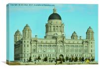 Port of Liverpool Building (Digital Art), Canvas Print