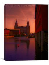 Liver Building from the Princes Dock, Canvas Print