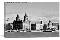 Liverpool Skyline Water front (Digital Art), Canvas Print