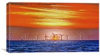 Windmills to the Sun (Digital Art), Canvas Print