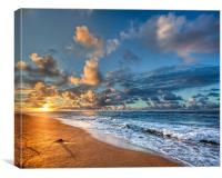 """Sunrise in Kauai"", Canvas Print"