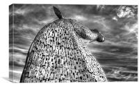 Reach for the sky Kelpies, Canvas Print