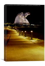 The kelpies path in, Canvas Print