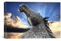 Kelpies Rays of Light, Canvas Print