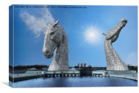 The Falkirk Kelpies, Canvas Print
