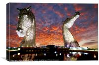 The Falkirk Stars Sunset, Canvas Print