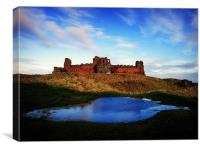 ice cold tantallon castle 2, Canvas Print