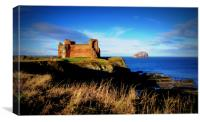 tantallon by the sea, Canvas Print