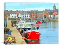 anstruther harbor, Canvas Print