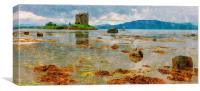 castle stalker - scotland, Canvas Print