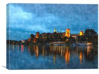 wawel castle reflection , Canvas Print