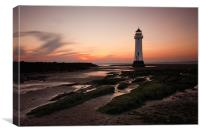 Sunset at Perch Rock, Canvas Print
