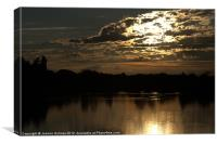 Sunset At The Lakes, Canvas Print