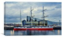 The Tall Ship at Glasgows Riverside Museum (2), Canvas Print